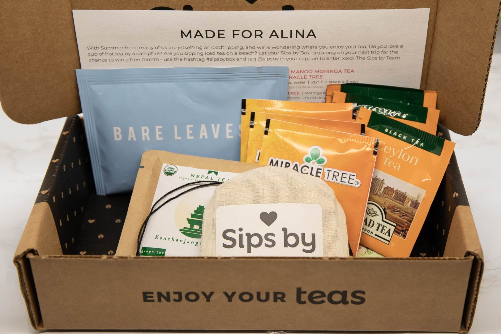 Sips By Tea Subscription Box Review - July 2019